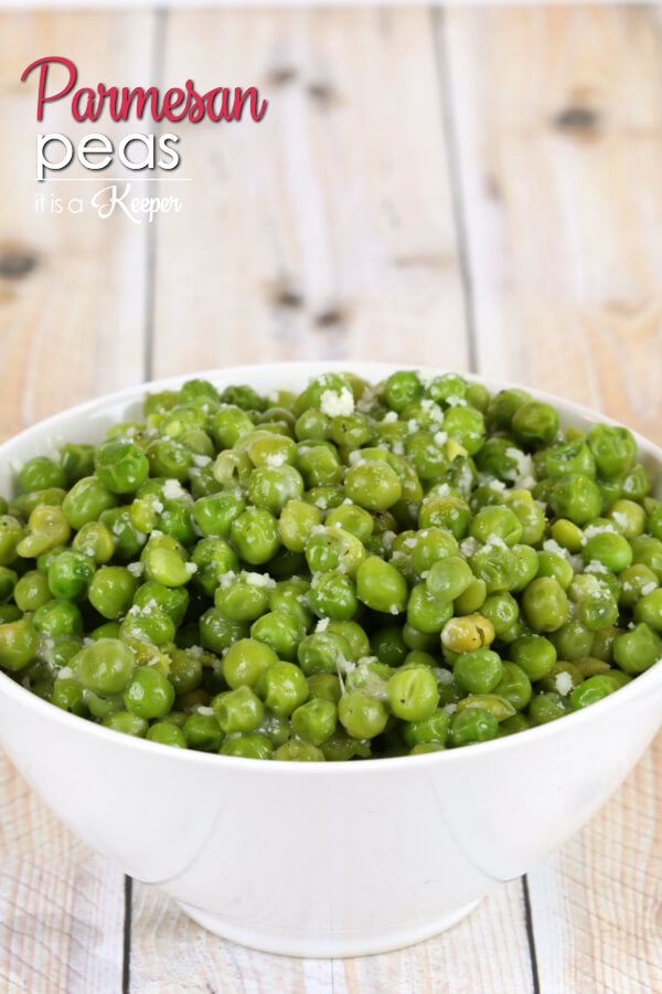 Parmesan Peas - this is one of my family's favorite easy side dish recipes