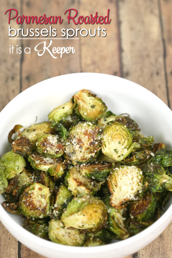 Parmesan Roasted Brussels Sprouts - there is so much flavor packed into this easy side dish recipe