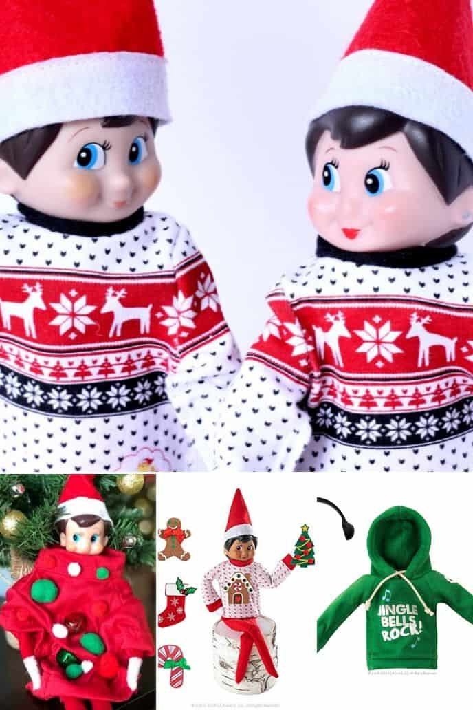 collection of Elf on the Shelf Clothes
