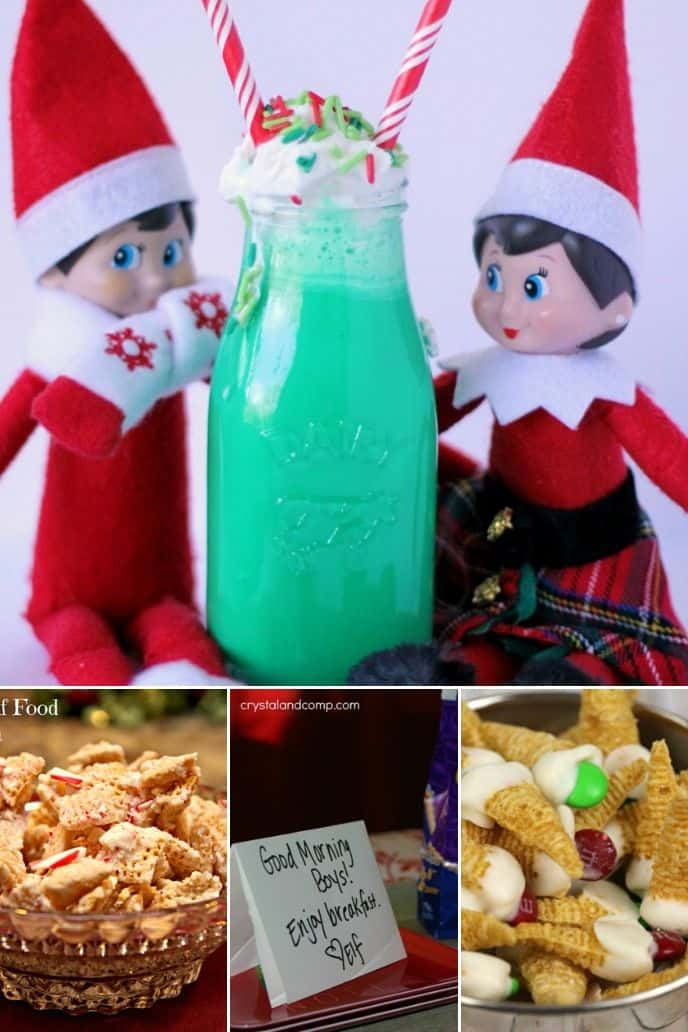 collection of Elf on the Shelf food