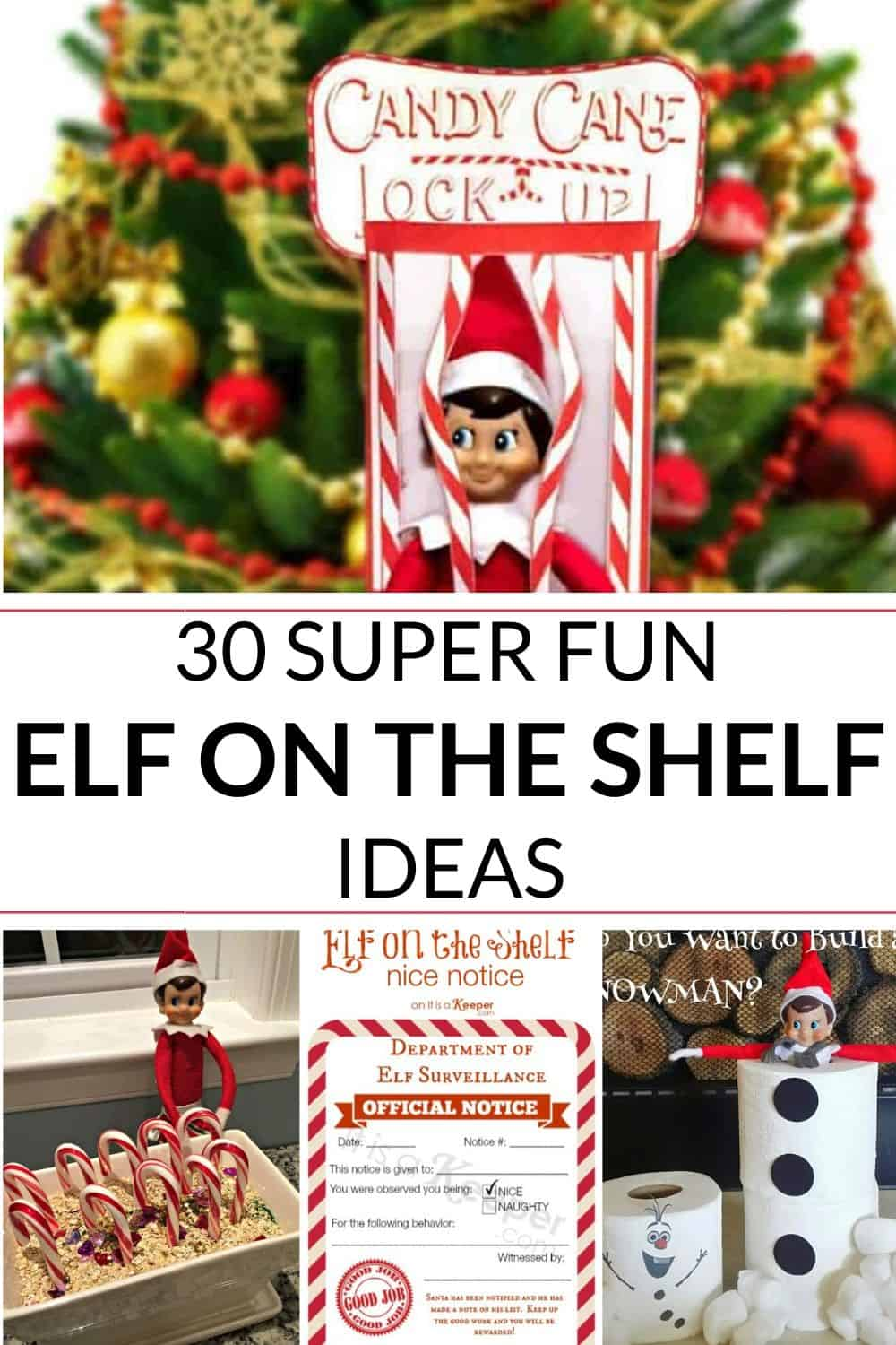 Collection of fun ideas for the Christmas elf on the shelf