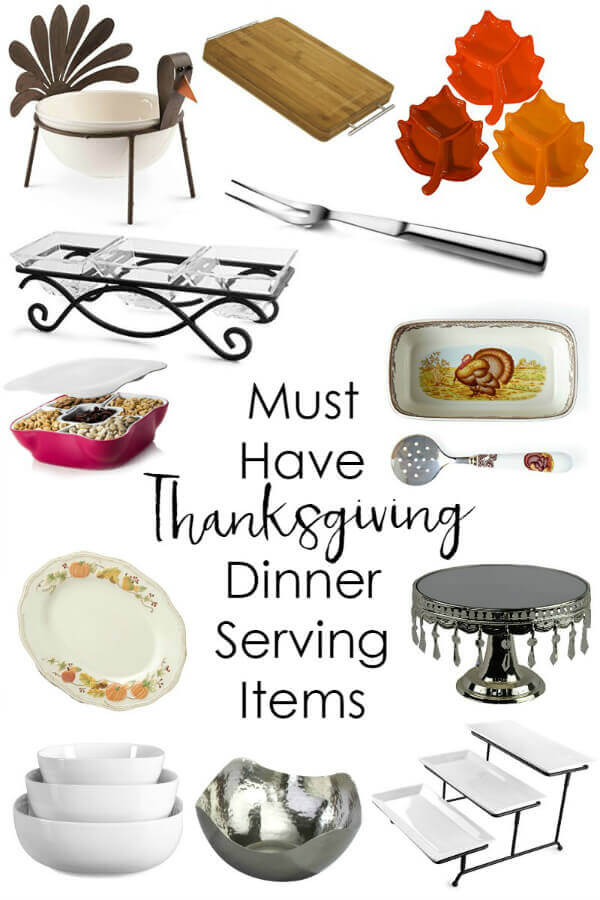Hosting Thanksgiving dinner?  Make sure you have everything you need to serve dinner in style!  I've compiled a list of items to help.