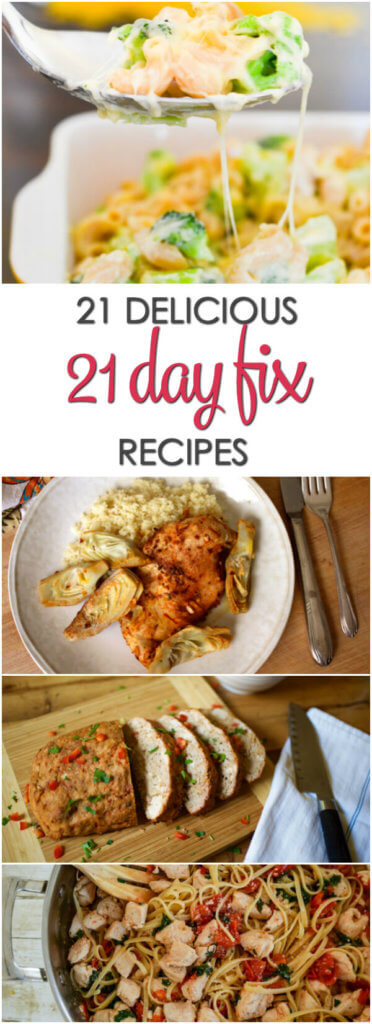 21 Day Fix Recipes - including breakfast, lunch and dinner
