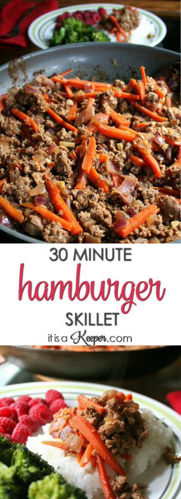 30 Minute Hamburger Skillet - this easy dinner recipe will have your family begging for more