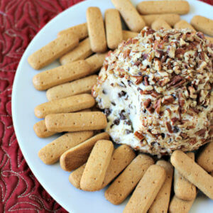 Chocolate Chip Cheese Ball - This Chocolate Chip Cheese Ball is an easy appetizer recipe that's the perfect holiday party treat