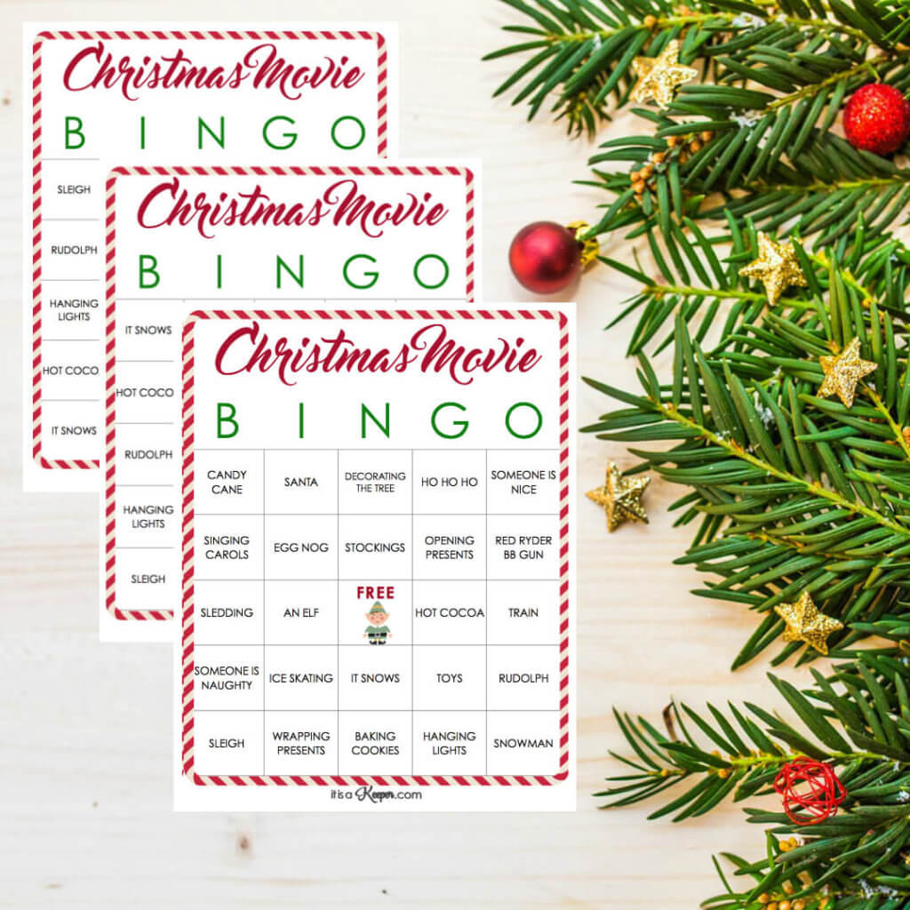 Christmas Movie Bingo Printables - these free printables are perfect your holiday family move night