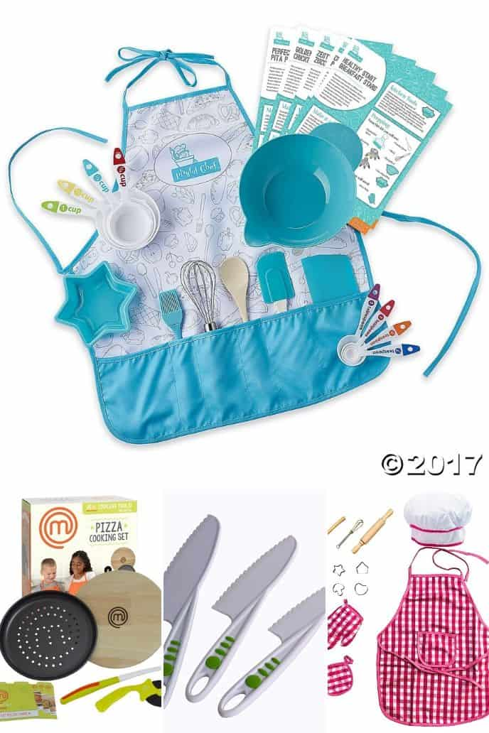 collection of cooking kits for kids