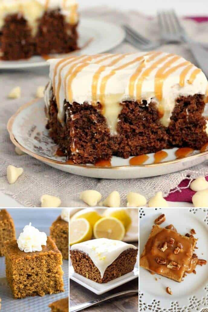 collection of gingerbread cake recipes