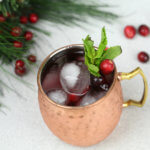 Holiday Mule Cocktail - this festive Moscow Mule has a cranberry twist and is crazy good