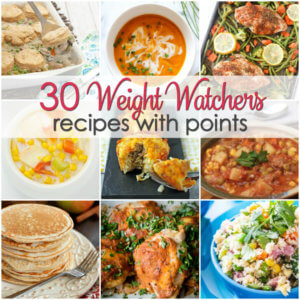Over 30 Weight Watchers recipes with points - including breakfast, lunch and dinner