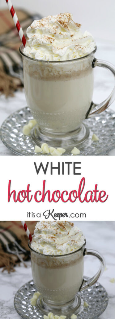 White Hot Chocolate - this easy homemade hot chocolate recipe is one of our favorite winter treats