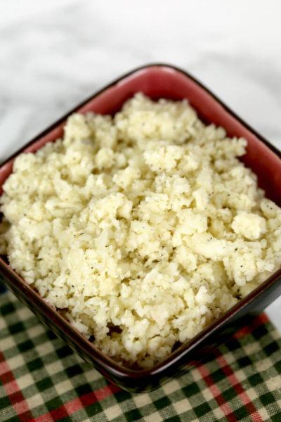 Parmesan Cauliflower Rice