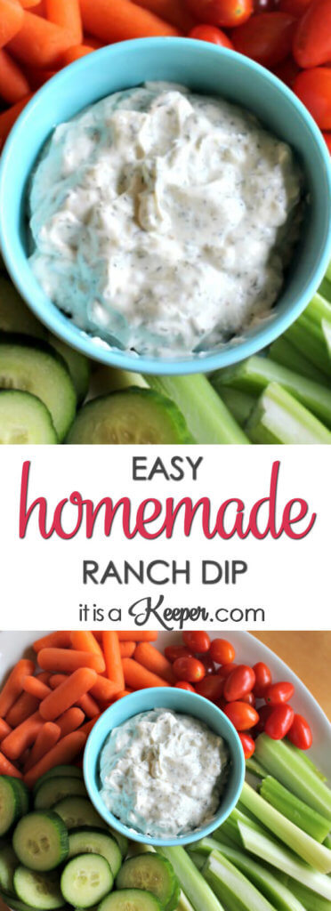 Homemade Ranch Dip - this easy recipe comes together in a few minutes and uses ingredients you probably already have