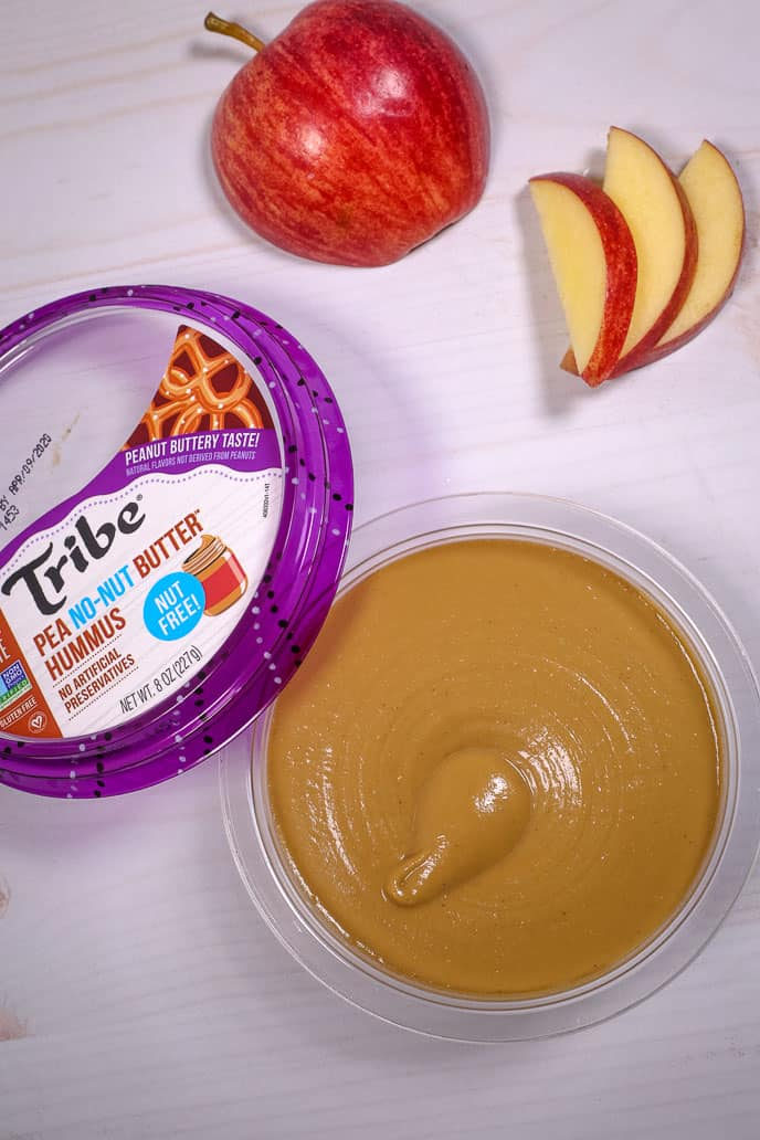 Peanut butter hummus and apples for national nutrition month
