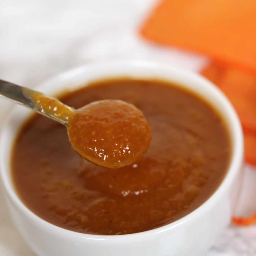 Peach BBQ Sauce - this homemade BBQ sauce recipe is easy to make and has a sweet peach flavor