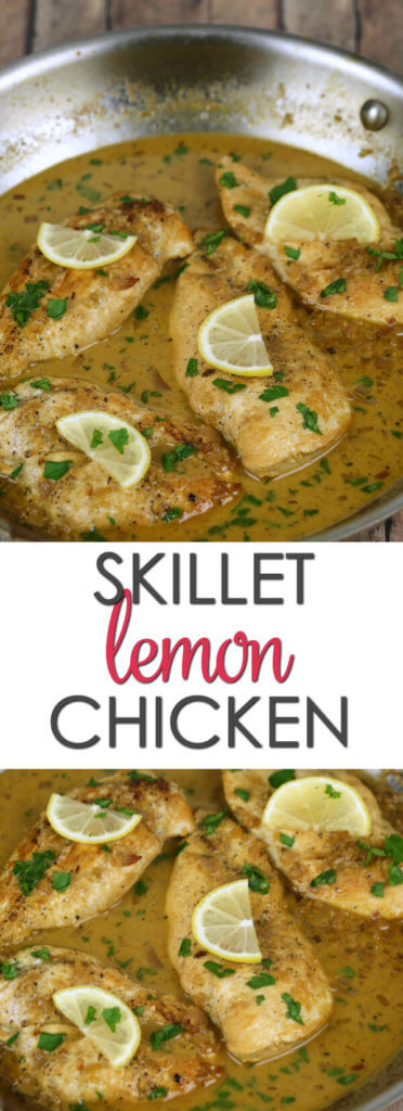 Skillet Lemon Chicken - this easy chicken recipe is made in under 30 minutes and has an incredible sauce