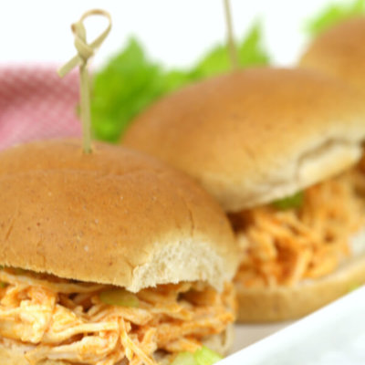 Slow Cooker Buffalo Chicken Sliders - these sandwiches are one of my favorite easy crock pot recipes
