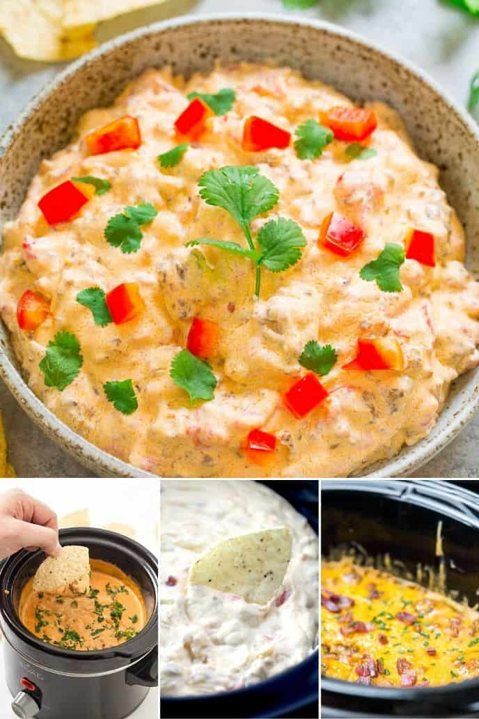 Collection of crock pot cheese dips
