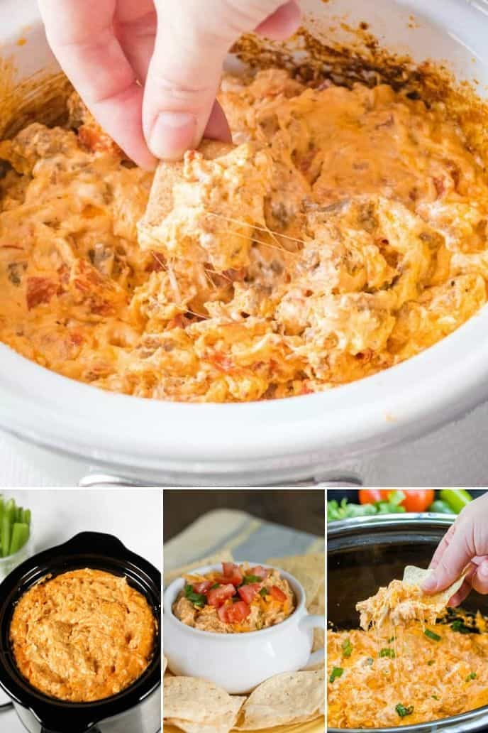 Collection of crock pot appetizers