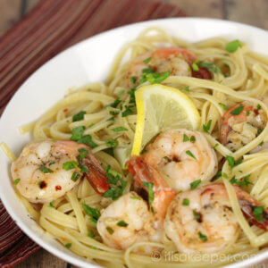 30 Minute Shrimp Scampi - this easy seafood recipe is on the table in less than 30 minutes. It's perfect for weeknights or company