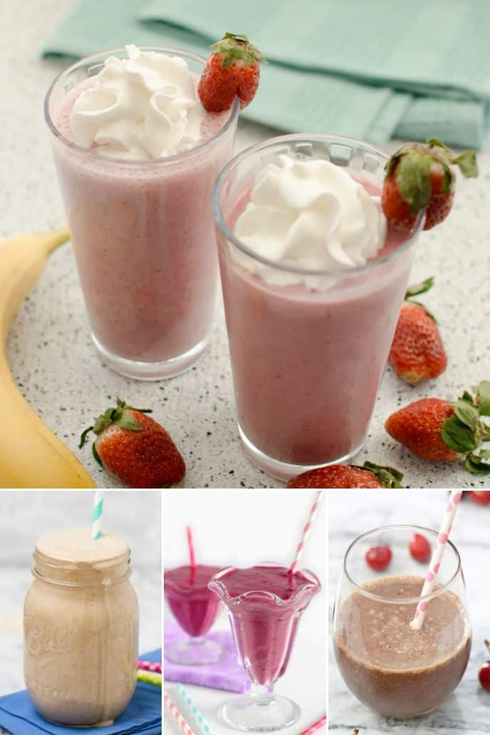 collection of strawberry smoothie recipes