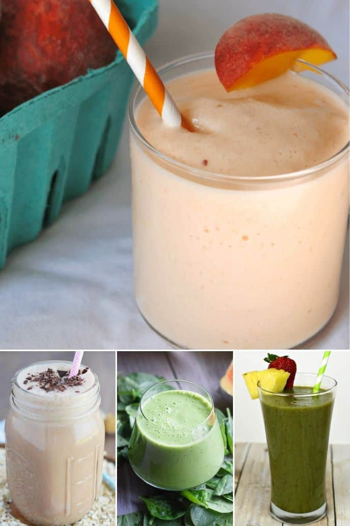 collection of breakfast smoothie recipes