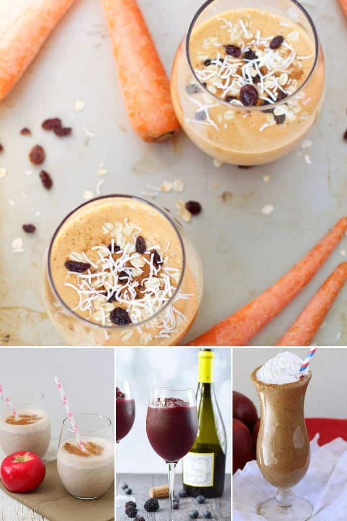 collection of easy healthy smoothie recipes