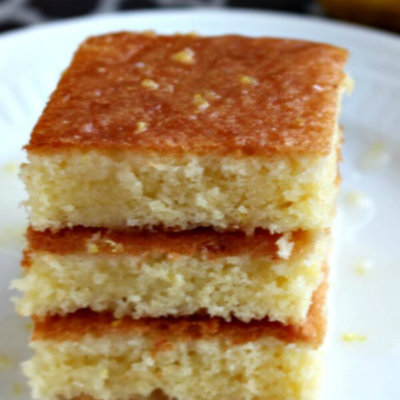 Tangy Lemon Brownies - this easy dessert recipe is bright and refreshing