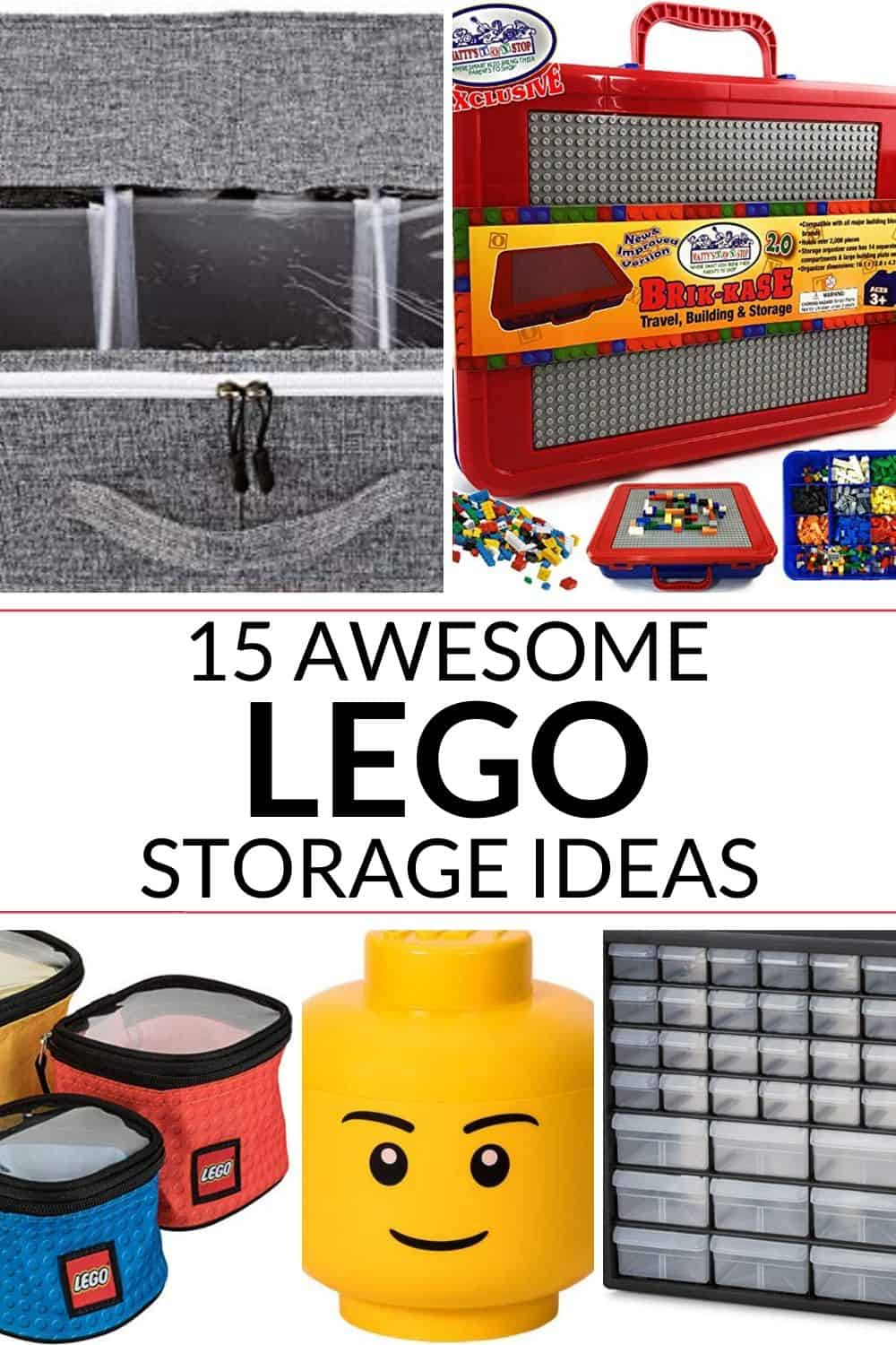 A collection of 15 amazing lego storage ideas.