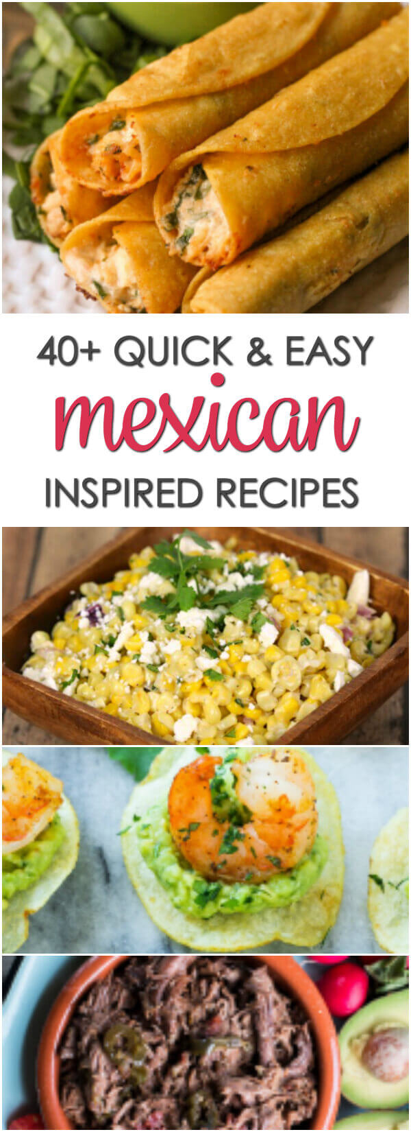 Looking for south of the border flavors Try these 40+ Quick Easy Mexican Recipes