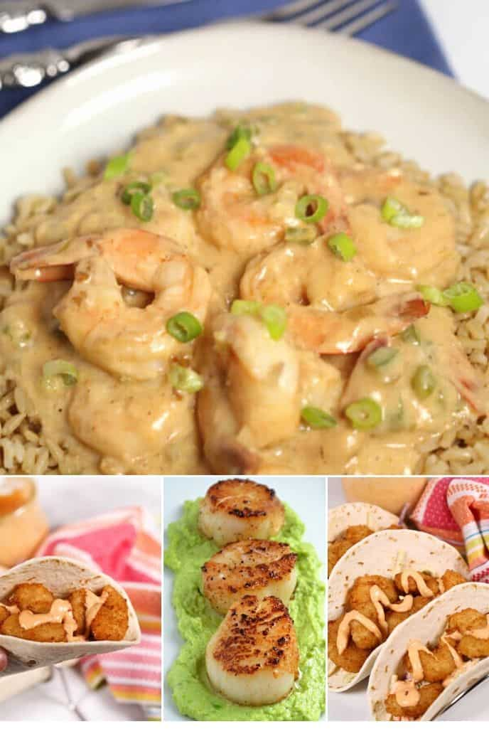 collection of Seafood Meatless Dinner Ideas