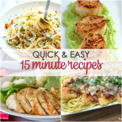 25 Dinners Ready in 15 Minutes