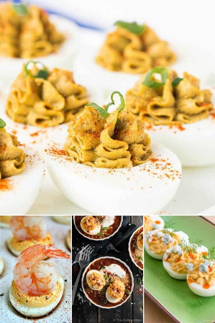 A collection of easy Easy Deviled Egg Recipe