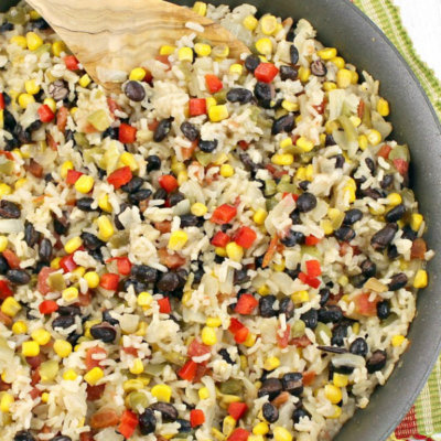 Easy Mexican Rice - this easy side dish recipe is full of flavor