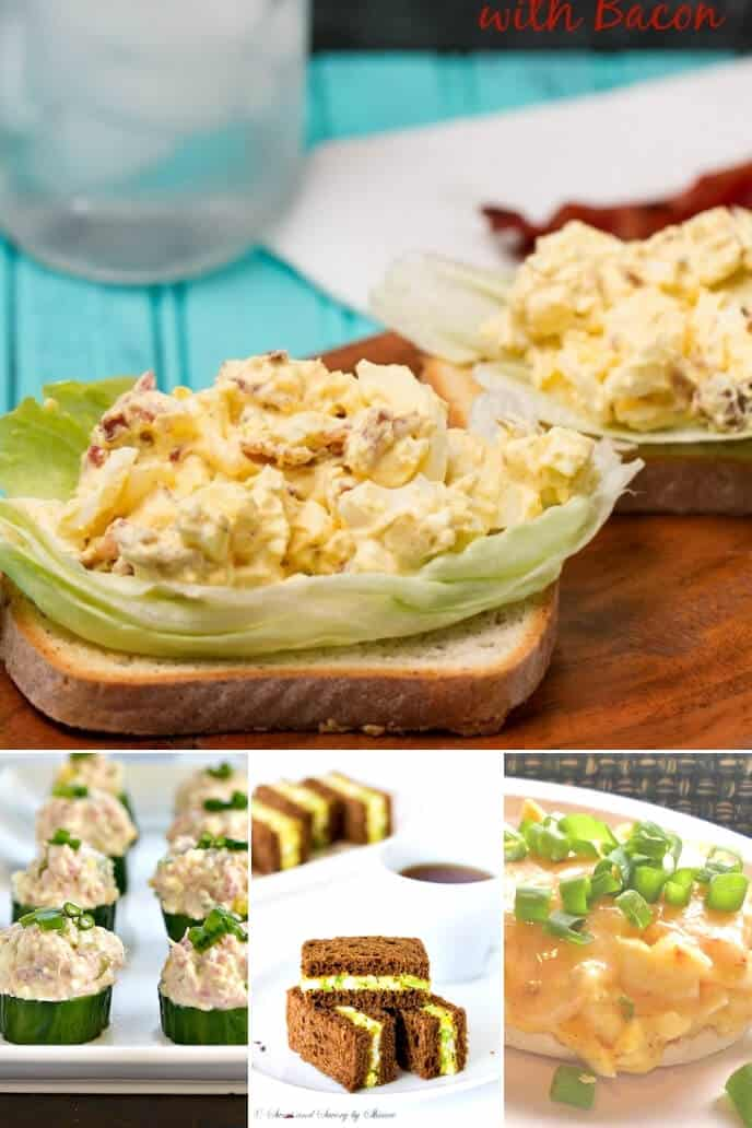 A collection of deviled egg salad recipes