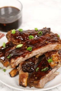 Slow Cooker Sticky Korean Ribs - these are so tender and flavorful. The sticky glaze in AMAZING! One of the best slow cooker recipes of all time