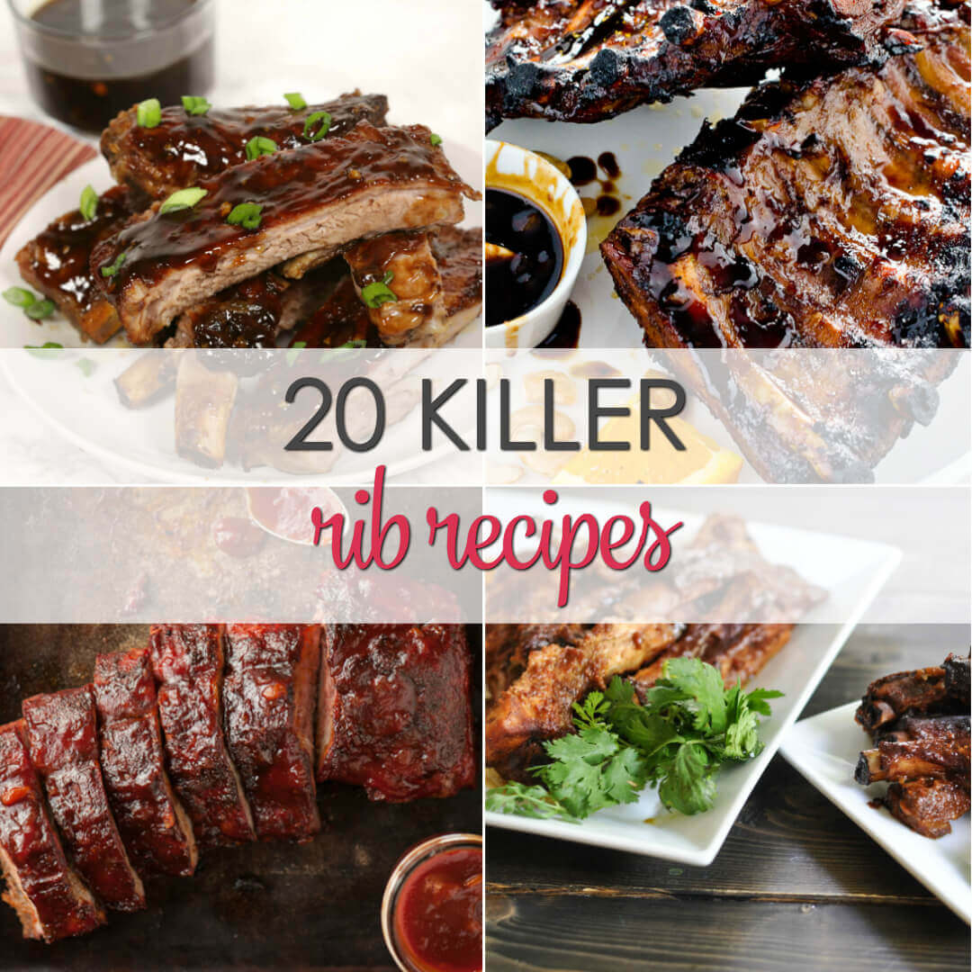 20 Killer Rib Recipes - get out the napkins for these easy rib recipes