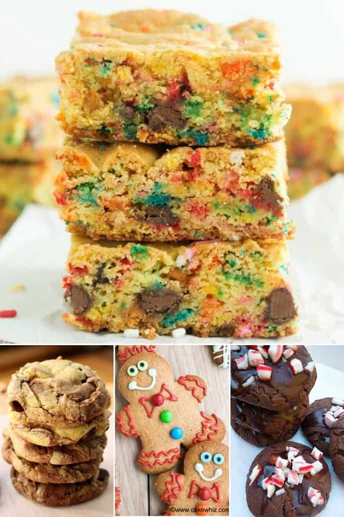 collection of cake mix cookie bar recipes