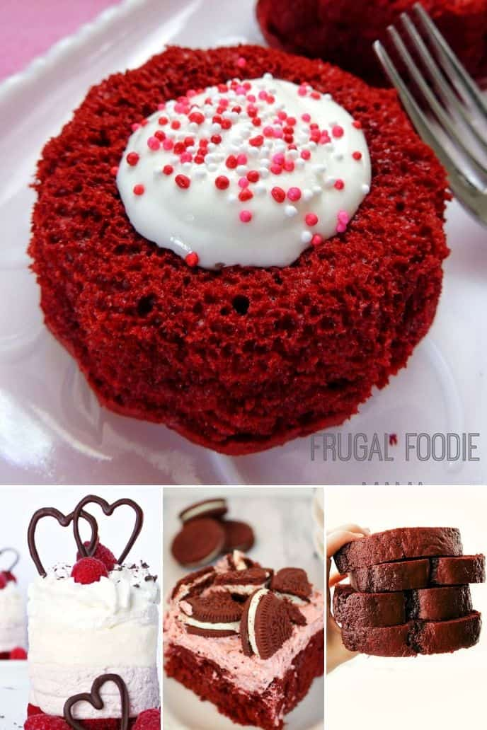 collection of recipes made with red velvet cake mix