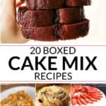 Collection of box cake mix recipes