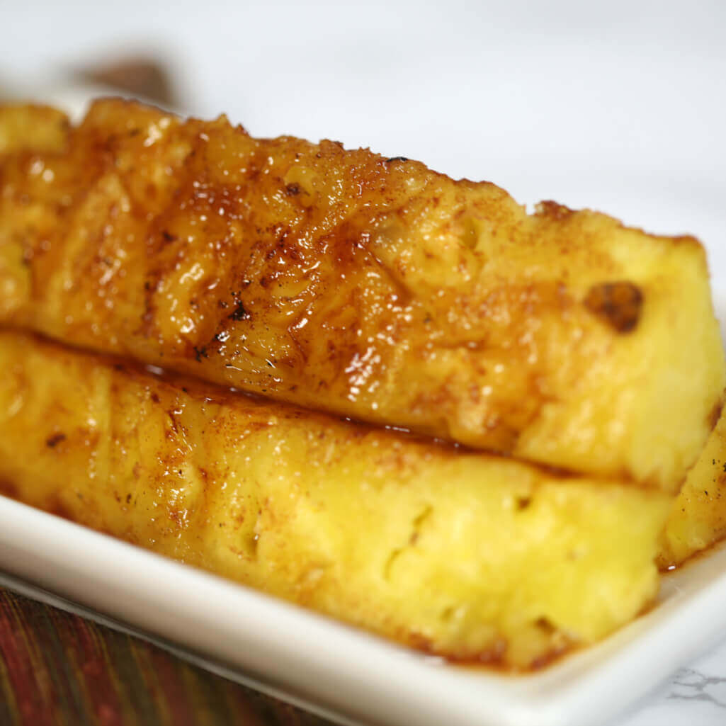 Brazilian Grilled Pineapple - this is one of my favorite grilled pineapple recipes. It's so flavorful and easy to make.