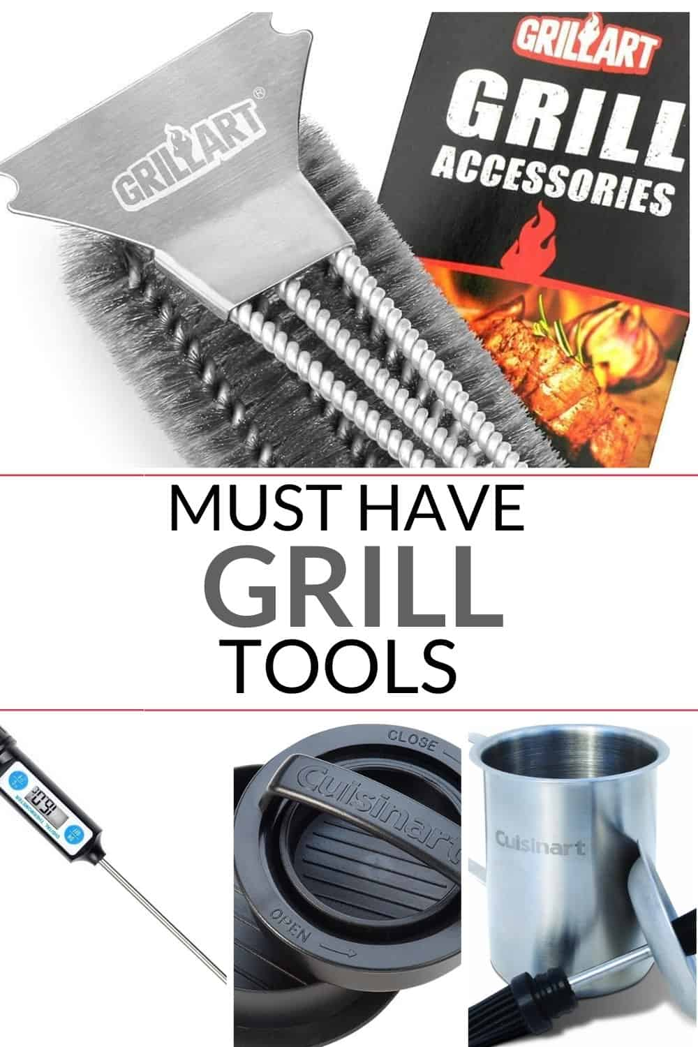 an excellent list of must have grill accessories that you need to take your grilling to the next level