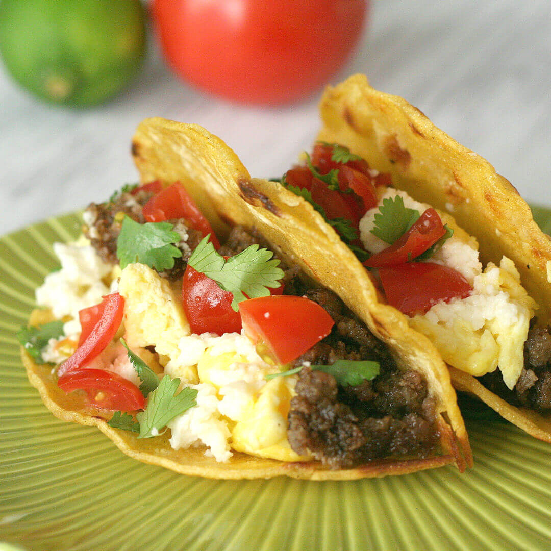 Sausage and Egg Breakfast Tacos - this easy breakfast recipe is ready in 30 minutes