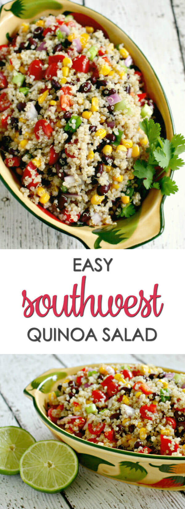 Southwest Quinoa Salad - this one of my favorite easy quinoa salad recipes