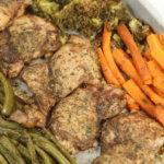 Balsamic Glazed Chicken Sheet Pan Supper