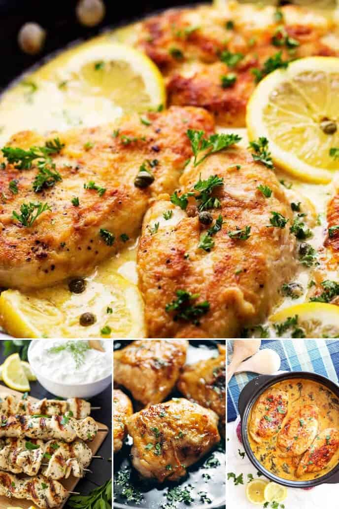 Collection of Lemon Chicken Recipes