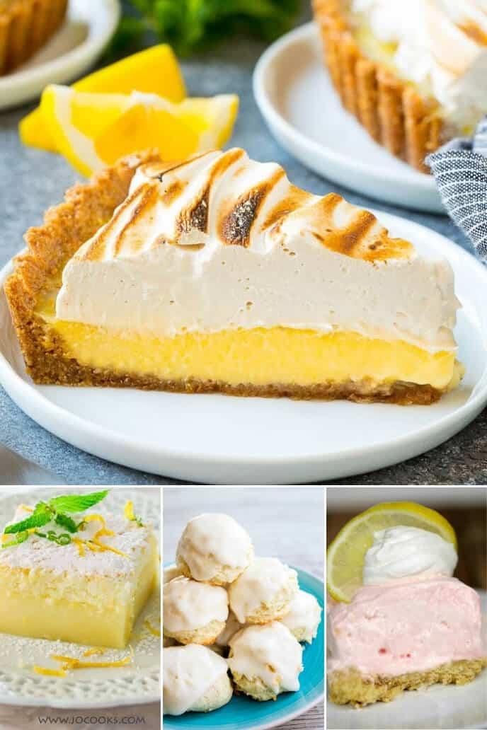 Collection of lemon desserts