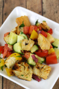 Grilled Panzanella Salad - this Tuscan summer bread salad is bursting with fresh flavor