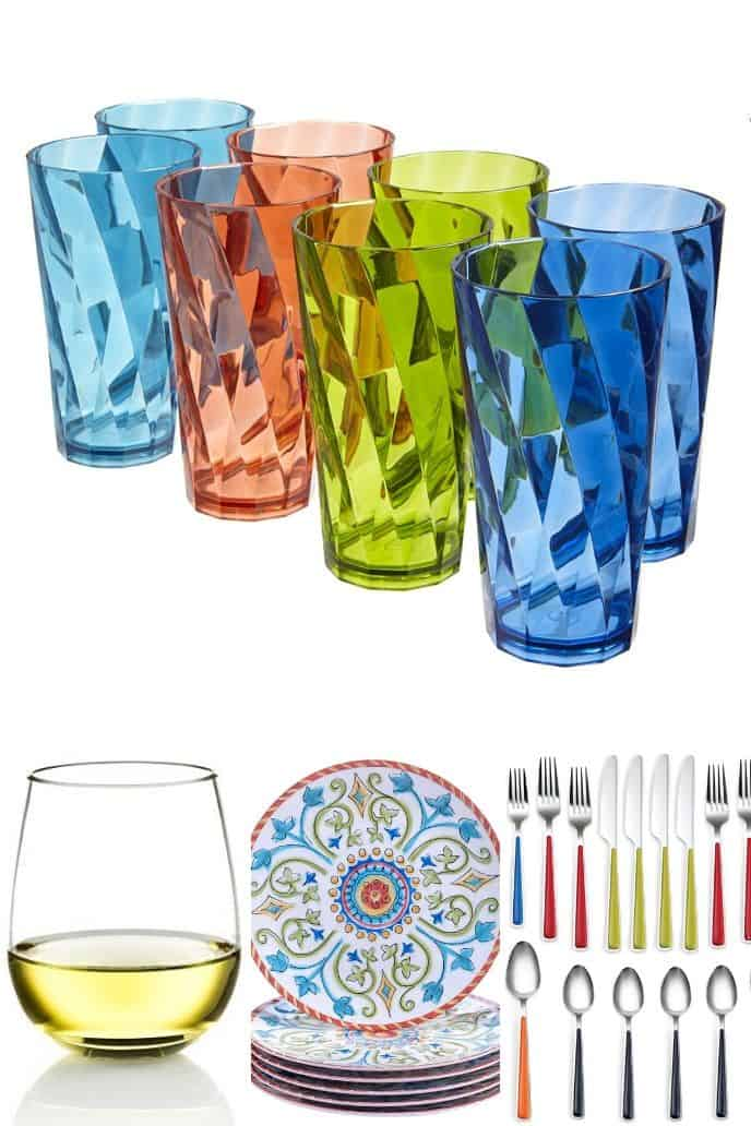 a list of cool outdoor dining and tableware items for your summer party