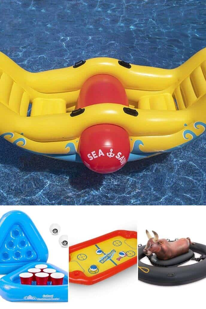 Collection of fun pool inflatables